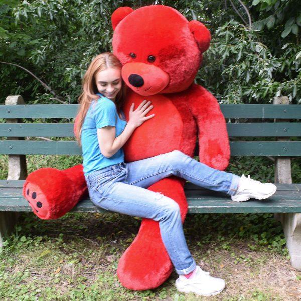 Daney teddy bear 6foot red 021
