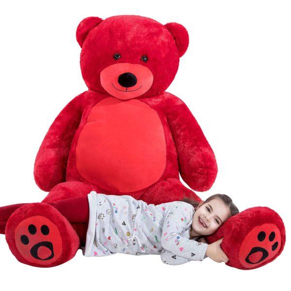 Daney teddy bear 6foot red 022