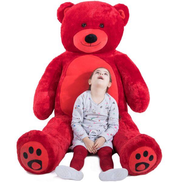 Daney teddy bear 6foot red 023