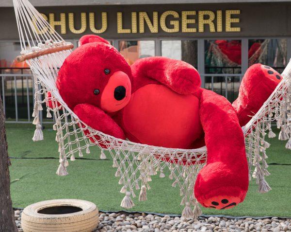 Daney teddy bear 6foot red 024
